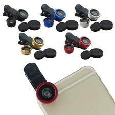 Universal 3 in1 Clip On Camera Lens Kit Wide Angle Fish Eye Macro For iPhone 5 6