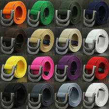 New 38mm Casual Unisex Canvas Fabric Belt Strap D Ring Buckle Webbing Waist Band