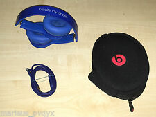 Genuine Monster Beats by Dr. Dre Solo HD Headphone Blue  Very good- 2014 Edition