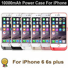 10000mAh External Battery Charger Power Case Cover Pack For iPhone 6 6S Plus UK