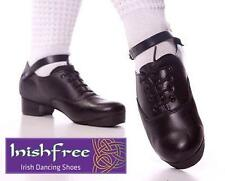NEW IRISH DANCING JIG SHOES ALL SIZES 6 to 10 FLEXI SOLE TREBLES HARD INISHFREE