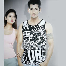 (Size-M-Chest-38 ) Printed 100% Cotton Sando, Stylish Look Sando (SKU-JB93196)
