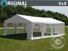 GAZEBO 6x8 m 8x6 m PVC TENDA TENDONE PER FESTE EVENTI GAZEBI GIARDINO PARTY