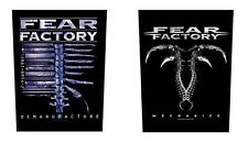 # FEAR FACTORY - DEMANUFACTURE / MECHANIZE LOGO OFFICIAL SEW-ON BACKPATCH patch
