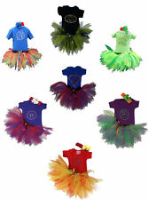 Heroes Tutu Skirt Costume Baby Girl Toddler Fancy Dress Halloween Comic Super