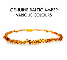 Baby Teething Amber Necklace Bracelet Anklet Genuine Natural Baltic Beads