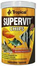 Tropical SUPERVIT CHIPS basic food for ornamental fish, sinking chips.