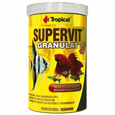 Tropical SUPERVIT GRANULES basic food for ornamental fish.