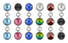 Sterling Silver Rivoli Dangle Studs made with 1122 6.2mm Swarovski® Crystals