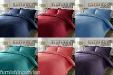 T300 SATIN STRIPE DUVET SET QUILT COVER PILLOW CASES BEDDING SETS
