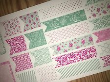 Spring Flowers Extras Pocket, Personal Planner Stickers for All Planners Types