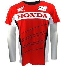 Dani Pedrosa 26 Moto GP Dual Honda T-shirt Red Official Neuf