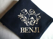 DOG TOWEL   EMBROIDERED     4 COLOURS 12 BREEDS  BNWOT ROTTWEILER