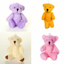 NEW - Pink Purple Orange White - Assorted Teddy Bears - Small Cute Cuddly