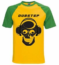DUBSTEP SKULL DJ BASEBALL T-SHIRT - Techno Drum N Bass Dub Step - Sizes S to XXL