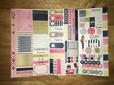 Trendy Personal Planner Stickers Tri Fold Kit SewMuchCrafting Vertical