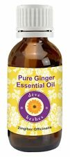 Pure Ginger Essential Oil Zingiber Officinalis 100% Natural Uncut by deve herbes