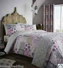 FLORAL PATCHWORK DUVET QUILT COVER PILLOWCASE BEDDING SET,CATHERINE LANSFIELD