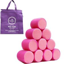 Hair Rollers Self Grip Curler Large Jumbo For Soft Sleeping Curly Plastic 10pcs