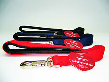 """ROSEWOOD EXTRA HEAVY DUTY EXTRA STRONG SHORT 18"""" DOG LEAD (RED.BLACK, NAVY BLUE)"""