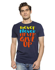 CHIMP Say Never Give Up Out 100% Organic Cotton Mood Indigo T-Shirts For Men's