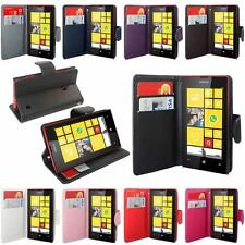 Colour Magnetic Flip Wallet Stand Mobile Phone Case Cover For Nokia Lumia 520