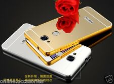 Aluminum Metal Frame Bumper + Mirror Acrylic Back Case Cover For Huawei Honor 5C