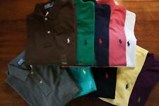 RALPH LAUREN DESIGNER MEN BOY LONG SLEEVE CLASSIC POLO TEE SHIRT XS S M L XL XXL