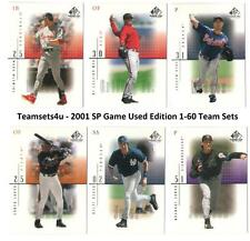 2001 SP Game-Used Edition (1-60) Baseball Team Sets ** Pick Your Team Set **