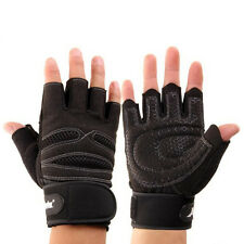 Pair Extened Wrist Wrap Gloves Workout Fitness Weight Lifting Gym Sport