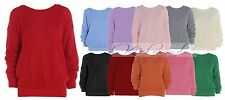 Ladies Womens Oversized Baggy Knitted Jumper Tops Chunky Sweater Plus Size 8-16