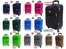 HAND LUGGAGE AEREO RYANAIR EASYJET CABIN TROLLEY SOFT 2 WHEELS LOW COST
