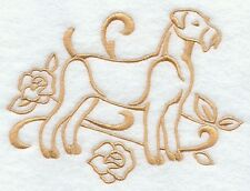 DOG TOWEL EMBROIDERED 2 SIZES 4 COLOURS 12 BREEDS BNWT AIREDALE