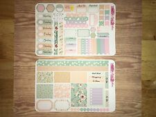 Vintage Pastels Personal Planner Stickers Kit for SewMuchCrafting Vertical
