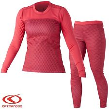 Catmandoo Women's Thermal Base Layer Underwear Set - Running Cycling Fitness
