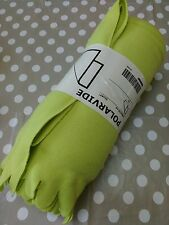 IKEA POLARVIDE Fleece Blanket Green 130x170 cm NEW