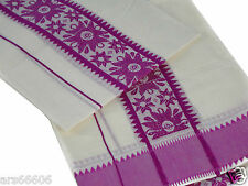 KERALA SAREE HANDLOOM COTTON SET MUNDU SIMPLE THREAD WORK-മുണ്ടും നേര്യതും