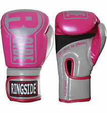 Ringside Boxing Apex Fitness Bag Gloves - Pink / Grey