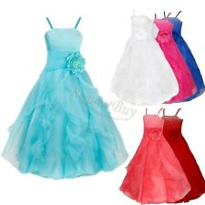 Girls Flower Bridesmaid Dresses Wedding Formal Party Prom Gown Princess Pageant
