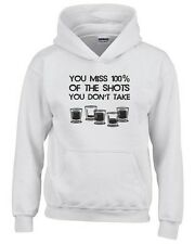 Felpa hoodie bambino BEER0308 You Miss 100x100 of the Shots You Don t Take
