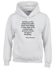 Felpa hoodie bambino CIT0032 And this, our life, exempt from public haunt, finds