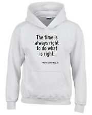 Felpa hoodie bambino CIT0220 The time is always right to do what is right.