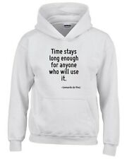 Felpa hoodie bambino CIT0237 Time stays long enough for anyone who will use it.