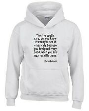 Felpa hoodie bambino CIT0212 The free soul is rare, but you know it when you see