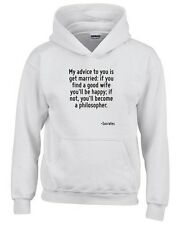 Felpa hoodie bambino CIT0240 My advice to you is get married.
