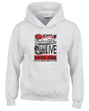 Felpa hoodie bambino TB0353 motorcycle racing skull and old school bike 22