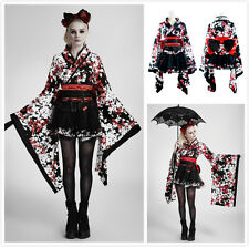 PUNK RAVE LQ-001 PYON PYON SWEET MAID  FLORAL KIMONO LOLITA DRESS