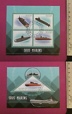 Military Submarines Stamps 2015 Congo perf. 4 value Sheetlet CTO Excellent NH UK