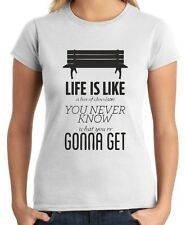 T-shirt Donna CIT0083 Forrest Gump Life Life is like a box of chocolates