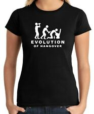 T-shirt Donna BEER0217 Evolution-Of-Hangover-Magliette